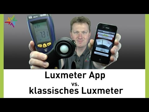 Luxmeter App Versus Klassisches Luxmeter [watt24-Video Nr. 135]