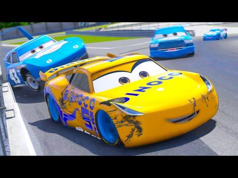 CARS DINOCO SUPER CIRCUIT RACE (Cars Dinoco Lightning Mcqueen)