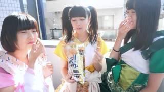 羽島みき(黄)関口なほ(緑)小山ひな(桃) いきなりガーリック味、新...