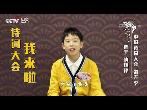 [中国诗词大会]唐宋诗词大家唱 梅瑞泽带来魔性诗词Rap| CCTV