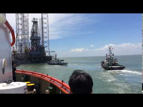 Start connecting to Rigmove Deep Driller 5 for towing (Owner - Aban Offshore Ltd)