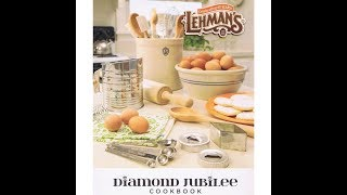 Lehman's Cookbook Giveaway - WINNER ** Diana Mallory **
