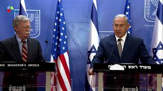 PM Netanyahu Meets US National Security Adviser John Bolton