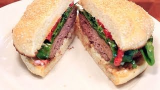 Savory Bison  Burger Recipe | Buffalo With Balsamic Vinaigrette