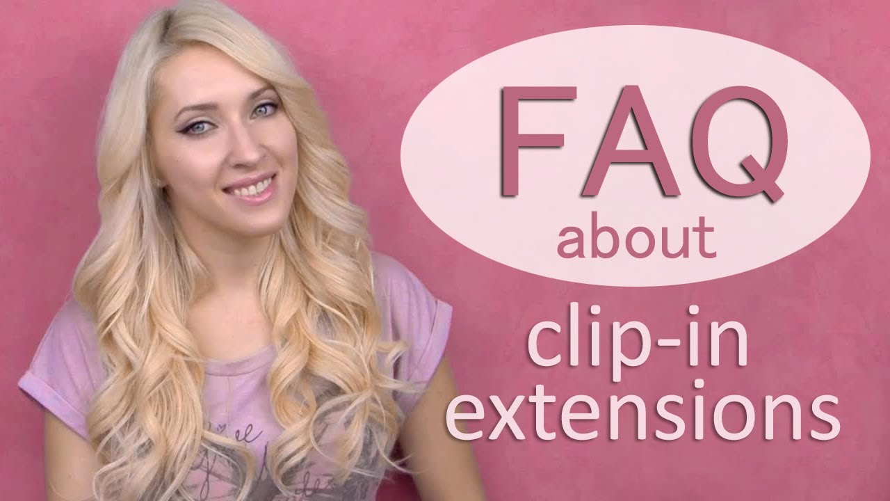 Clip In Hair Extensions Tutorial How To Attach Blend Curl And