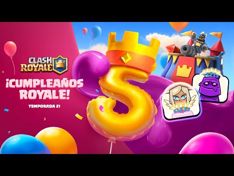 Clash Royale: 5º ANIVERSARIO (¡Nueva temporada y Reacción gratis!)