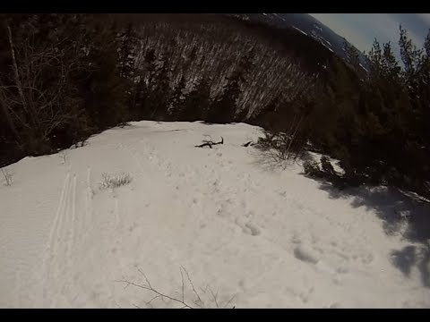 Skiing Off the Backside of Sunday River