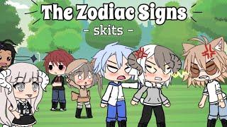Zodiac signs Skits // Gacha Life [ +12 CUSS WARNING]