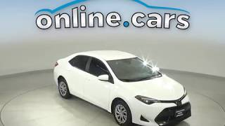 G14660NA Used 2017 Toyota Corolla L FWD 4D Sedan White Test Drive, Review, For Sale