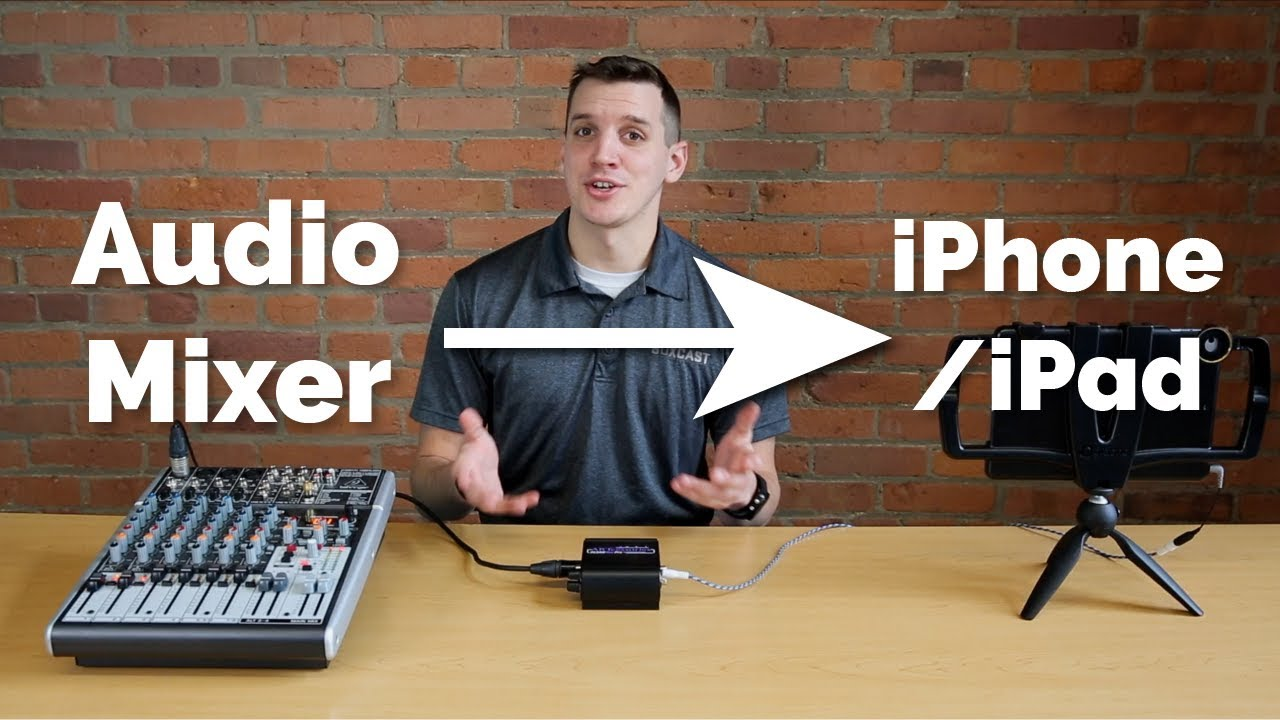 Send Audio Directly From a Mixer to an iPhone or iPad: Updated Video in the  description!