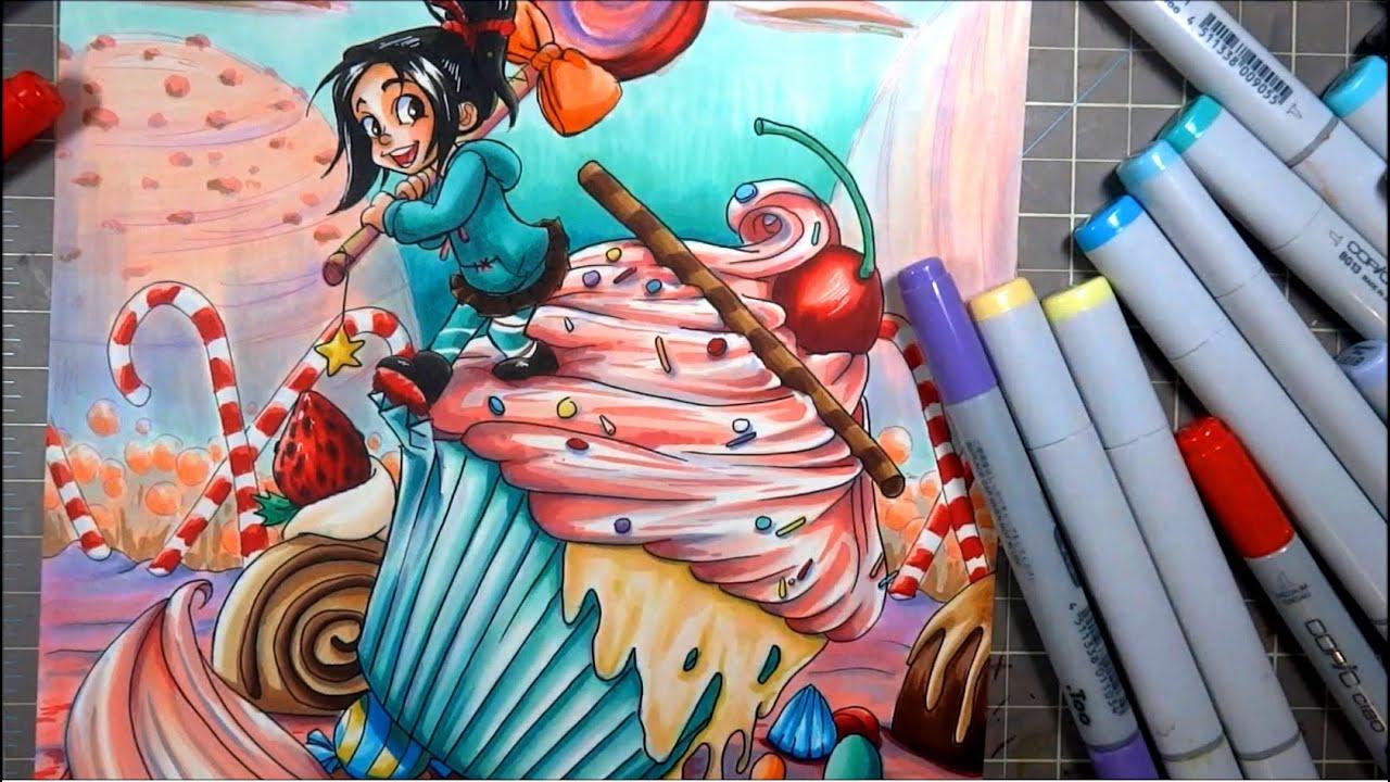 Copic Marker Illustration VANELLOPE Disneys Wreck It