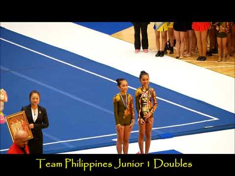 2017 9th CWC Team Philippines   Cheer Dance Junior 1 Doubles   Bronze Medal Awarding 3