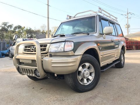 2003 HYUNDAI GALLOPER 4X4 -MANUAL+DIESEL