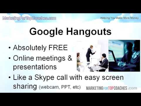 Google Hangouts | How to Use the Free Google Hangouts for Your Online Webinars and Internet Meetings