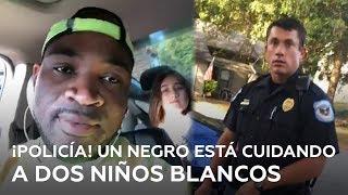 Ve a un niñero negro con dos niños blancos y llama a la Policía