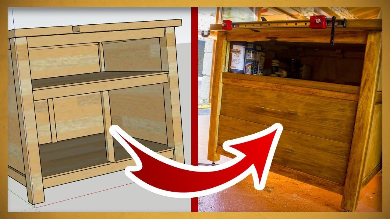 du plan a la realite fabrication d un meuble en bois