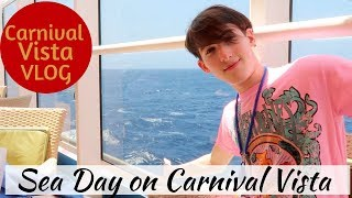 Carnival Vista Sea Day - Lunch at Pig & Anchor - Lip Sync Battle Auditions