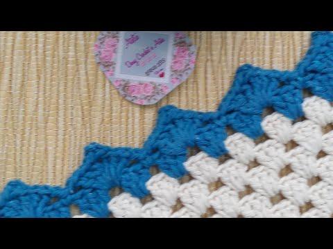 Aula bico de crochê  Simples para tapetes em crochê