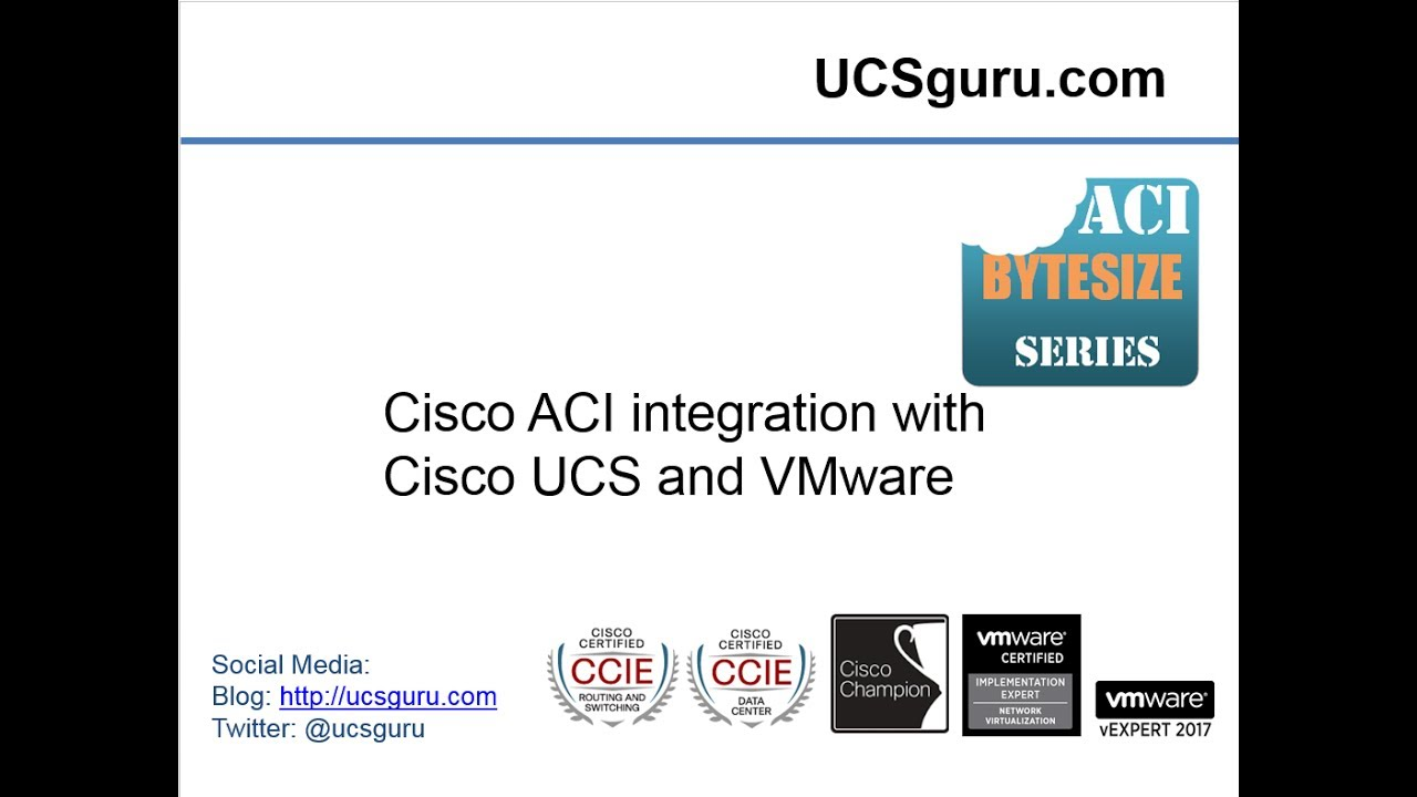 Cisco ACI And UCS Integration Updated! - YouTube