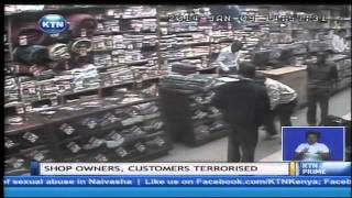 CCTV footage that reveals a gang of robbers at the kingsware shop along tom Mboya Street