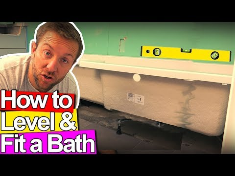 HOW TO LEVEL AND FIX A BATH TUB - Plumbing Tips - YouTube