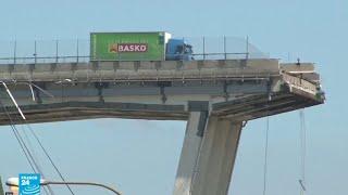 استمع إلى سائق الشاحنة الخضراء الذي نجا بإعجوبة من انهيار جسر جنوى