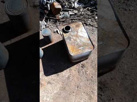 DIY rocket stove reused after fire destroyed everything