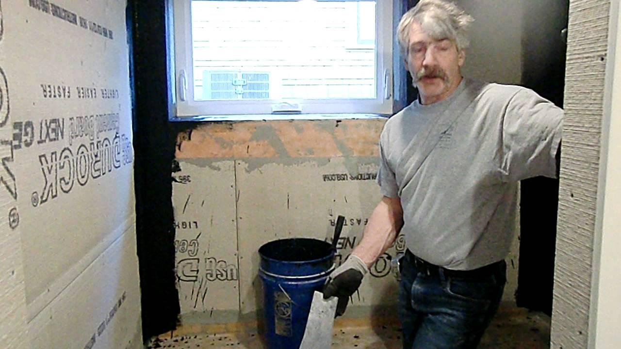 Mud Set Shower Pan, Shower Waterproofing