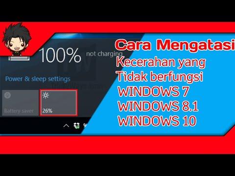 Kecerahan Laptop Tidak Bisa Diatur | Windows 10.