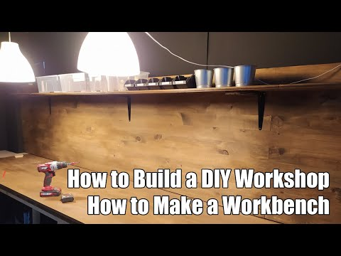 How to Build a DIY Workshop: How to Make a Workbench