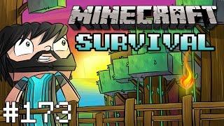 Minecraft : Survival - Part 173 - Enderman Farm 2.0