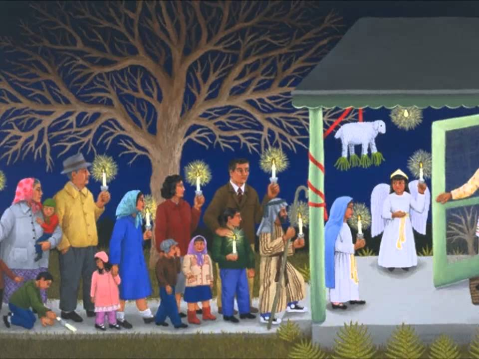Las posadas navide as villancico tradicional youtube for Pinturas navidenas