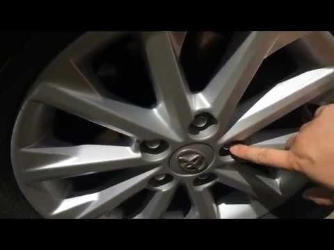 Секретные гайки Toyota Camry V 50 (секретки на колеса)