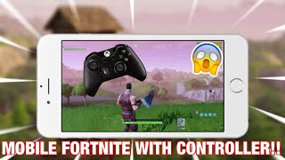 IOS 13 WORKS NOW!! PLAYING FORTNITE MOBILE WITH AN XBOX CONTROLLER!!