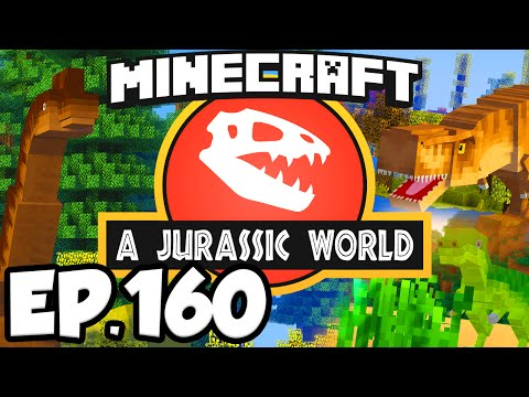 Jurassic World: Minecraft Modded Survival Ep.160 - DINOSAURS BONE DISPLAYS 2!!! (Dinosaurs Mods)