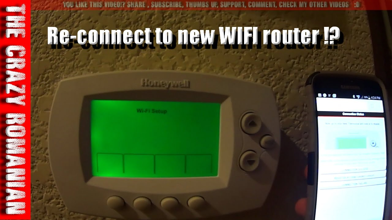 How To Re Connect Honeywell Thermostat Rth 6580 Wf Wifi Home Wire A Network