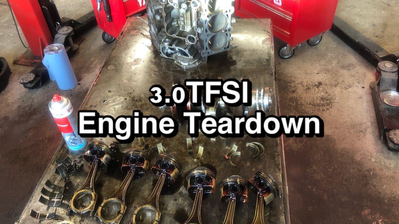 Audi A7 3.0tfsi engine rebuild - part 2 - Engine Teardown | time lapse