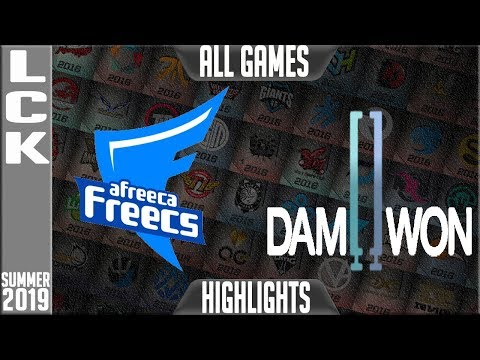 AF vs DWG Highlights ALL GAMES | LCK Summer 2019 Week 8 Day 1 | Afreeca Freecs vs Damwon Gaming