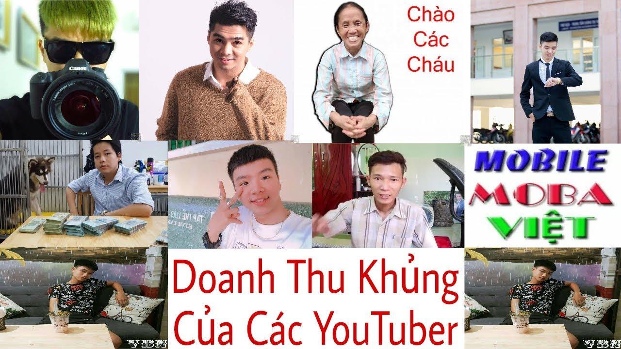 Tổng Hợp Các Bảng Doanh Thu Của Những YouTuber Đứng Đầu Việt Nam (YouTuber's Revenue Tables)