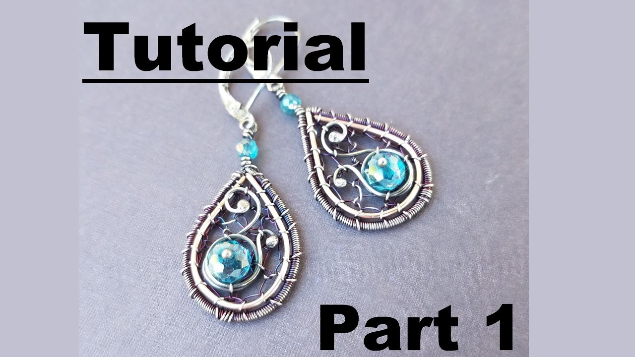 Wire Wrapping Tutorial - Beth\'s Earrings - Part 1 - YouTube