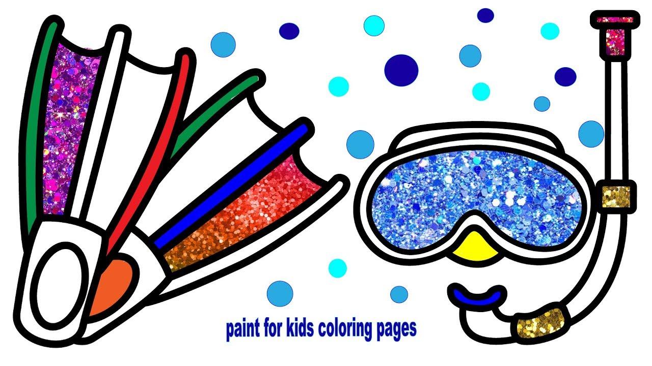 Swimming Goggles Coloring Page - Swim Goggles Clip Art, HD Png ... | 720x1280