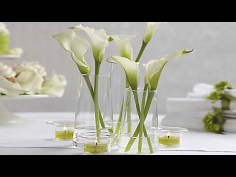 C mo puedes crear bellos centros de mesa con alcatraces - Centros de mesa para casa ...