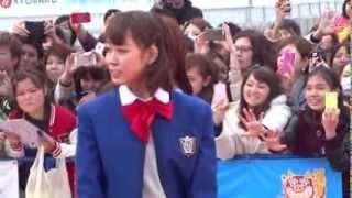 2014年 第6回沖縄国際映画祭 NMB48メンバーがレッドカーペットを歩く.