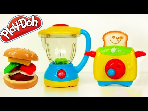 blender-and-toaster-my-little-kitchen-set-toys-for-kids-play-doh-food-cooking-breakfast