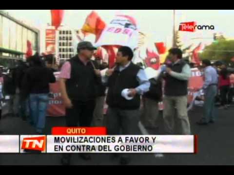 Movilizaciones a favor y en contra del gobierno