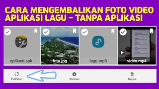 Cara Mengembalikan Foto Dan Video Yang Terhapus Di Android.