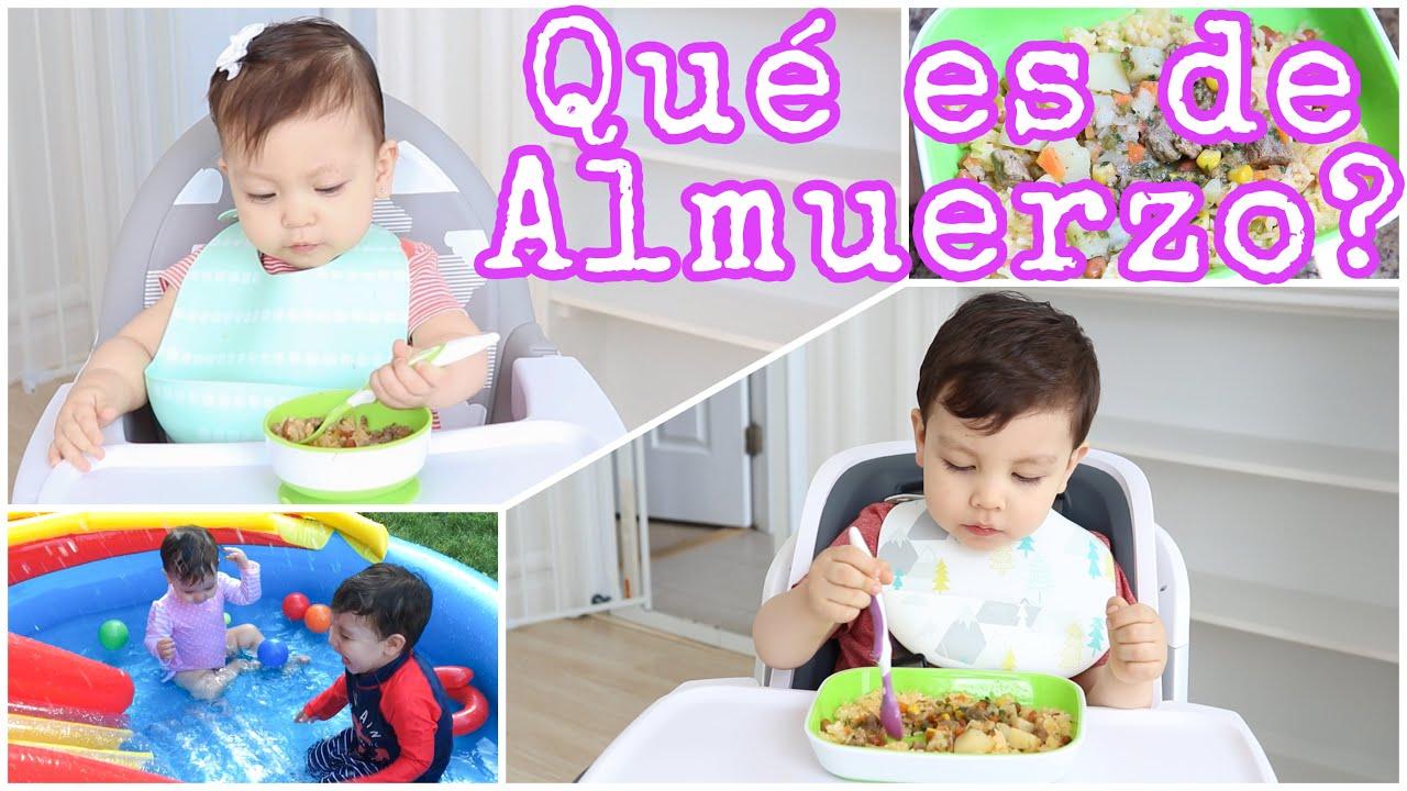 Arroz Moro y Carne | Almuerzo para la familia con niños de 2 y 1 año.