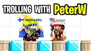 Trolling people with PeterW !!! - ( Growtopia )