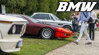 BMW display at Chantilly concours 2016 (M1, CSL, 328, airplane, bikes, 750, ...)