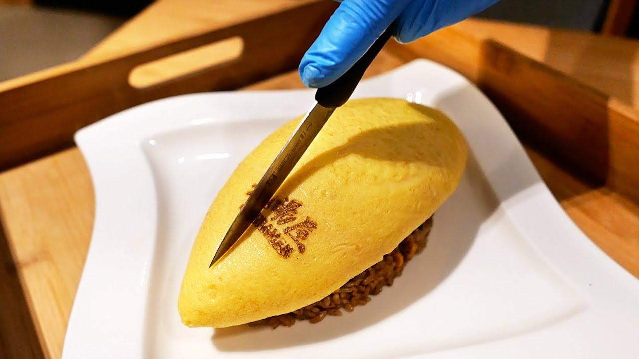 New York City Food - JAPANESE OMELETTE FRIED RICE & RAMEN Kyuramen NYC